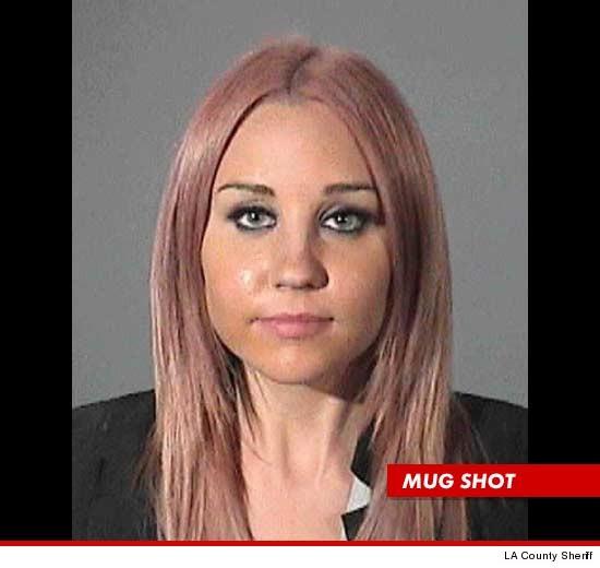 Amanda Bynes mugshot, from TMZ.com