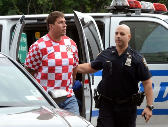 David Diehl being arrested; picture by Richard Harbus for the NY Daily News