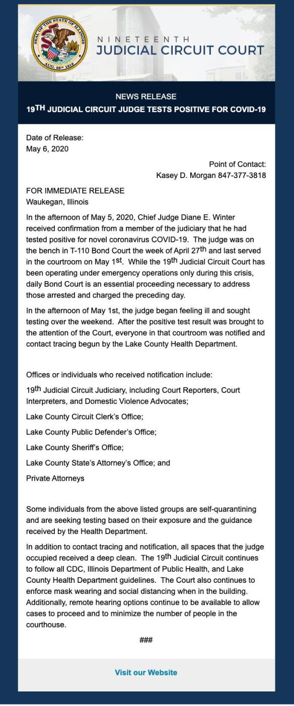 Lake County Judge COVID19